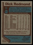 1977 Topps #213  Dick Redmond  Back Thumbnail