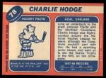 1968 Topps #78  Charlie Hodge  Back Thumbnail