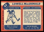 1968 Topps #42  Lowell MacDonald  Back Thumbnail