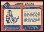 1968 Topps #35  Larry Cahan  Back Thumbnail