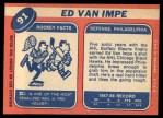 1968 Topps #91  Ed Van Impe  Back Thumbnail
