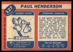 1968 Topps #127  Paul Henderson  Back Thumbnail
