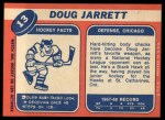 1968 Topps #13  Doug Jarrett  Back Thumbnail