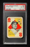 1951 Topps Blue Back #50  Johnny Mize  Front Thumbnail