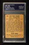 1940 Play Ball #168  Honus Wagner  Back Thumbnail