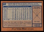 1978 Topps #680  Vida Blue  Back Thumbnail