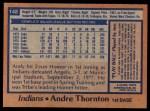 1978 Topps #148  Andre Thornton  Back Thumbnail