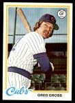 1978 Topps #397  Greg Gross  Front Thumbnail