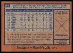 1978 Topps #198  Ron Pruitt  Back Thumbnail