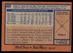 1978 Topps #670  Jim Rice  Back Thumbnail