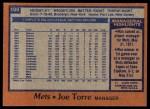 1978 Topps #109  Joe Torre  Back Thumbnail