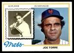 1978 Topps #109  Joe Torre  Front Thumbnail