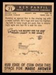 1959 Topps #71  Ken Panfil  Back Thumbnail