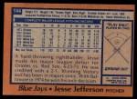 1978 Topps #144  Jesse Jefferson  Back Thumbnail