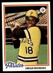 1978 Topps #283  Omar Moreno  Front Thumbnail