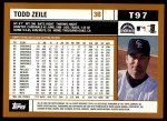 2002 Topps Traded #97 T Todd Zeile  Back Thumbnail