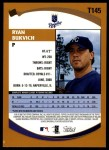 2002 Topps Traded #145 T Ryan Bukvich  Back Thumbnail