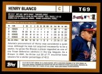 2002 Topps Traded #69 T Henry Blanco  Back Thumbnail