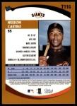 2002 Topps Traded #116 T Nelson Castro  Back Thumbnail