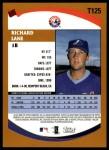 2002 Topps Traded #125 T Richard Lane  Back Thumbnail