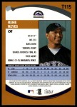 2002 Topps Traded #115 T Rene Reyes  Back Thumbnail