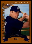 2002 Topps Traded #190 T Brad Nelson  Front Thumbnail