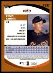 2002 Topps Traded #237 T Deivis Santos  Back Thumbnail