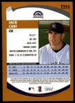 2002 Topps Traded #211 T Jack Cust  Back Thumbnail