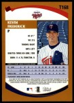 2002 Topps Traded #168 T Kevin Frederick  Back Thumbnail