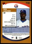 2002 Topps Traded #192 T Ron Calloway  Back Thumbnail