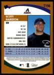 2002 Topps Traded #156 T Scott Hairston  Back Thumbnail