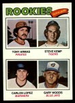 1977 Topps #492   -  Tony Armas / Steve Kemp / Carlos Lopez / Gary Woods Rookie Outfielders   Front Thumbnail