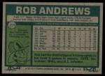 1977 Topps #209  Rob Andrews  Back Thumbnail