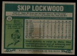 1977 Topps #65  Skip Lockwood  Back Thumbnail