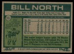 1977 Topps #551  Bill North  Back Thumbnail