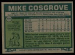 1977 Topps #589  Mike Cosgrove  Back Thumbnail