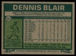 1977 Topps #593  Dennis Blair  Back Thumbnail