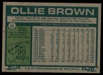 1977 Topps #84  Ollie Brown  Back Thumbnail