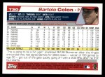 2004 Topps Traded #30 T Bartolo Colon  Back Thumbnail