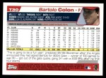 2004 Topps Traded #30 T Bartolo Colon  Back Thumbnail