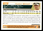 2004 Topps Traded #86 T Huston Street  Back Thumbnail