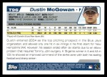 2004 Topps Traded #96 T Dustin McGowan  Back Thumbnail