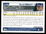 2004 Topps Traded #79 T Scott Elbert  Back Thumbnail