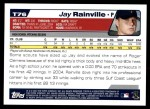 2004 Topps Traded #76 T Jay Rainville  Back Thumbnail