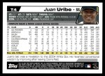 2004 Topps Traded #4 T Juan Uribe  Back Thumbnail