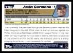 2004 Topps Traded #118 T  -  Justin Germano First Year Back Thumbnail