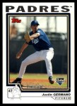 2004 Topps Traded #118 T  -  Justin Germano First Year Front Thumbnail