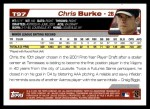2004 Topps Traded #97 T Chris Burke  Back Thumbnail