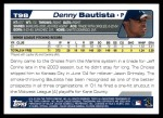 2004 Topps Traded #98 T Denny Bautista  Back Thumbnail