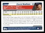 2004 Topps Traded #104 T David Kelton  Back Thumbnail